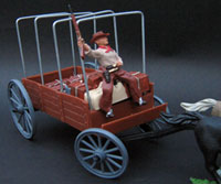wagon with bows