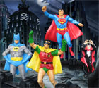 Superman, Batman, Robin and Count Dracula