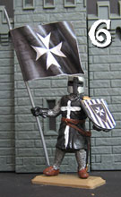 Knight of the Hospital with flag