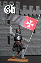 Knight of the Hospital with banner