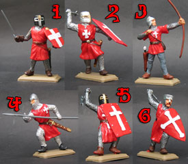 Hospitallers Knights in red tunics set