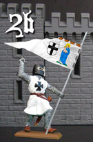 Teutonic Knight with flag