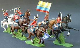 Mounted Colombian Husars set